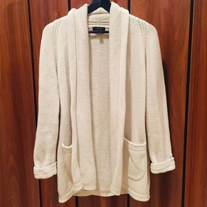 J.Crew cream open sweater